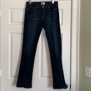 PAIGE boot cut dark wash jeans